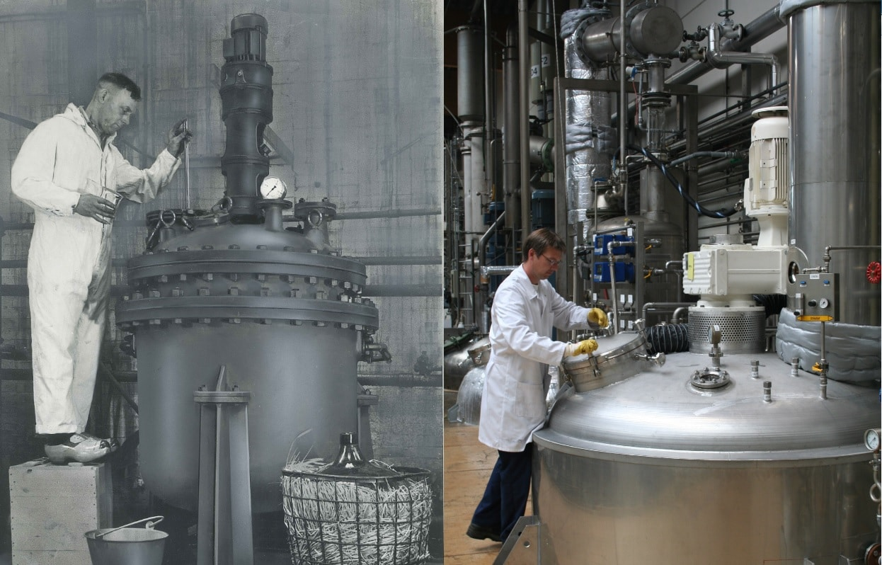 Chemical production - then & now
